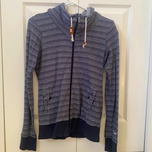 2/$25 Bench Blue and White Zip-Up Sweater